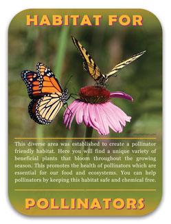Pollinator Habitat Sign, HabitatSigns.com