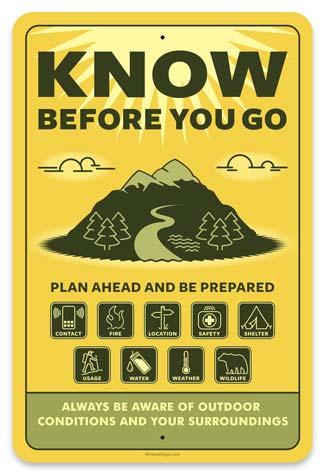 Know Before You Go   Habitat Signs