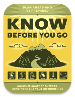 Know Before You Go Sign