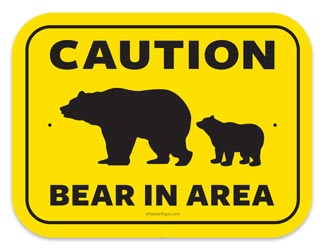 Bear activity in area   Bear Habitat