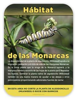 Monarch habitat waystation sign