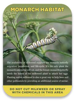 Habitat Signs Monarch Butterfly