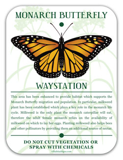 Monarch Waystation HabitatSigns.com