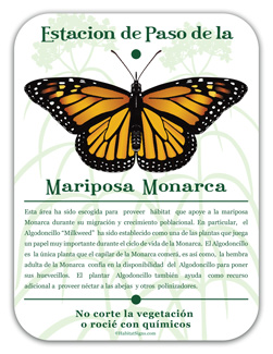 Monarch Waystation Spanish