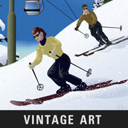 Lake Tahoe Posters Vintage